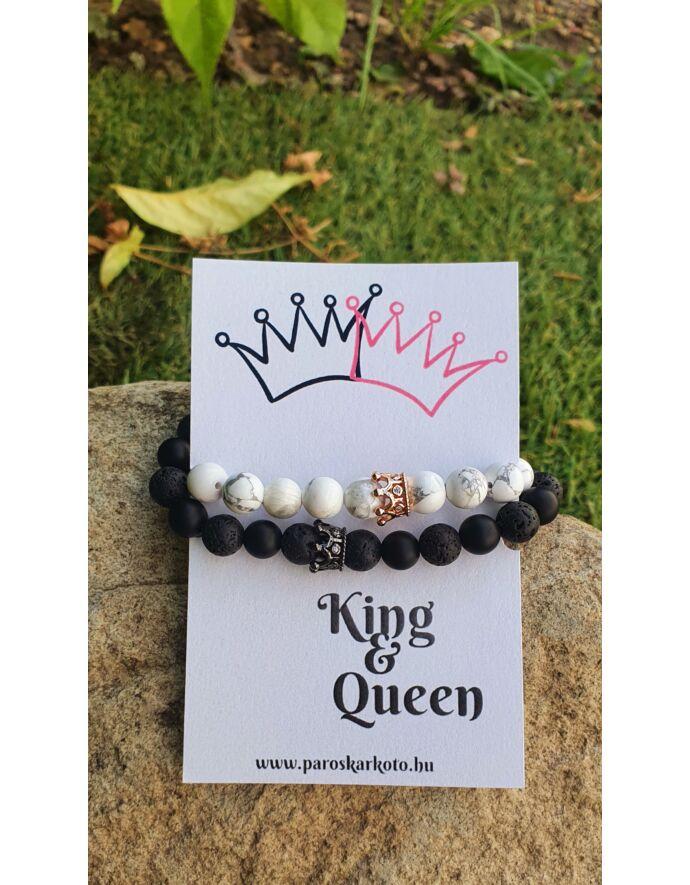 King & Queen ásványkarkötőpár kártyával