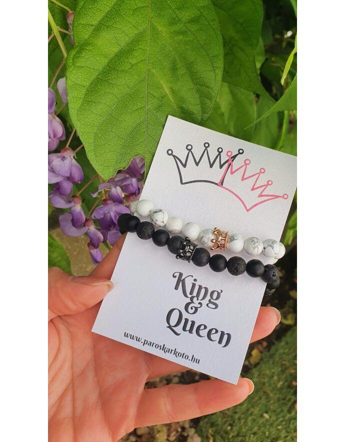 King & Queen ásványkarkötőpár kártyával_1