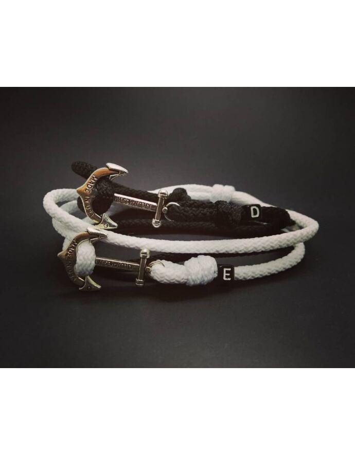 Black&White szerelmi horgonyos pároskarkötő