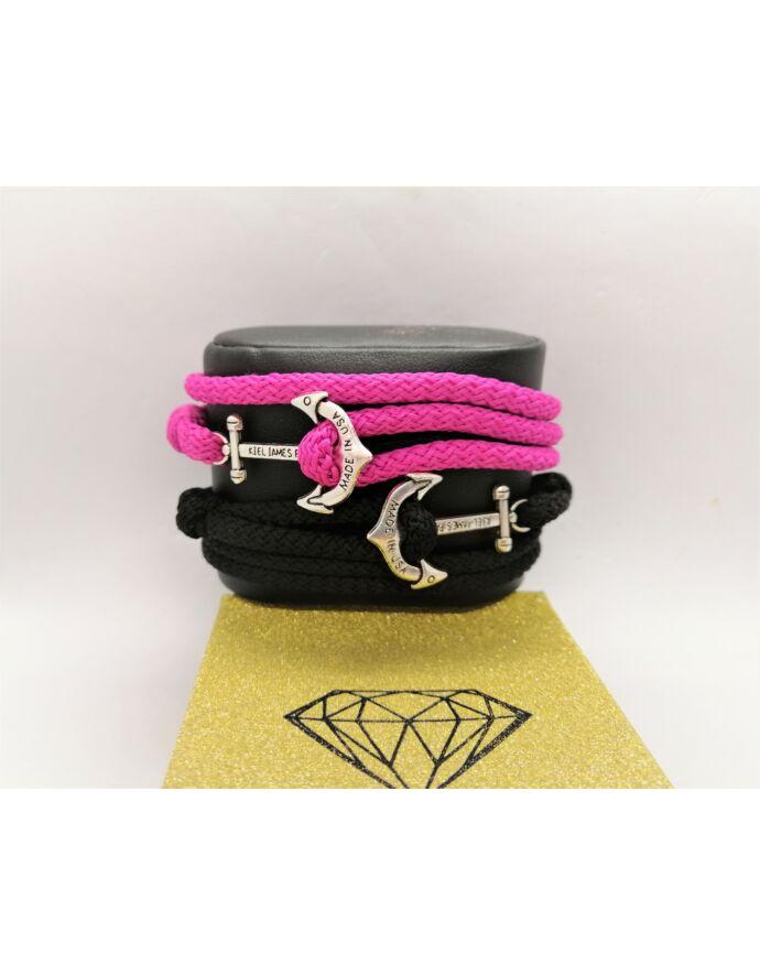 Black&Pink horgonyos karkötőpár