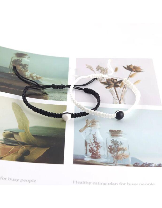 Jin-jang karkötőpár egy-egy ásványgyönggyel_3