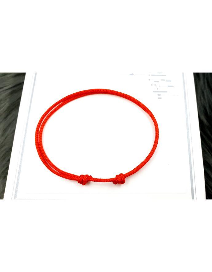 Kabbala védelmező piros karkötő