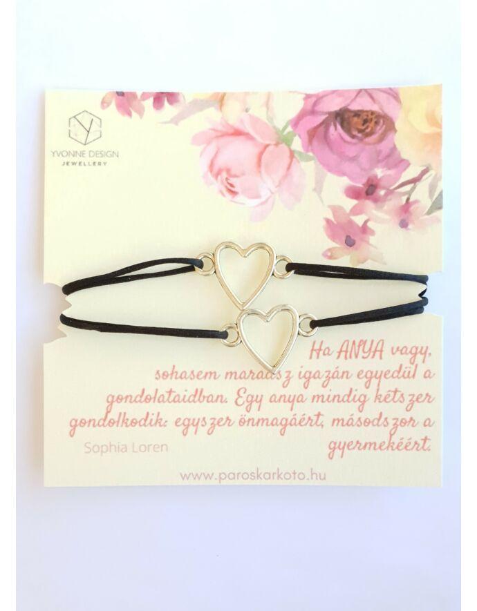 """Anya-Lánya karkötőpár szívhez szóló idézettel """"szív"""""""