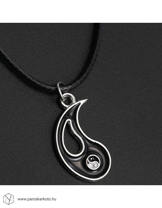 Jin - jang medálos párosnyakláncpároskarkötő, yvonnedesign, ékszer, ékszerek, karkötő, karkötők, szerelem, ásvány, nyaklánc, jin-jang, jin jang, fekete fehér, ajándékötlet