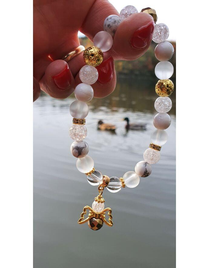 """""""Arany angyal"""" kristálykarkötő"""