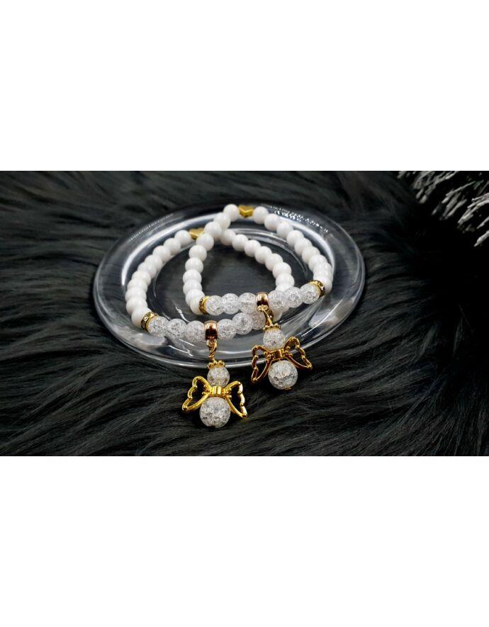 Yvonne Design arany angyal Anya-Lánya karkötőpár