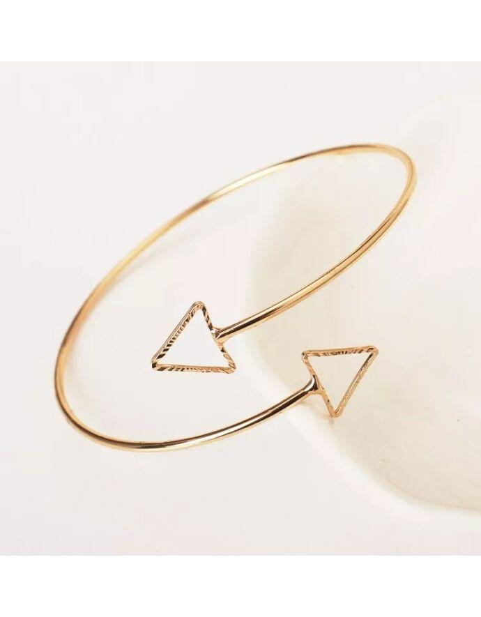 Drót karkötő háromszögekkel_1