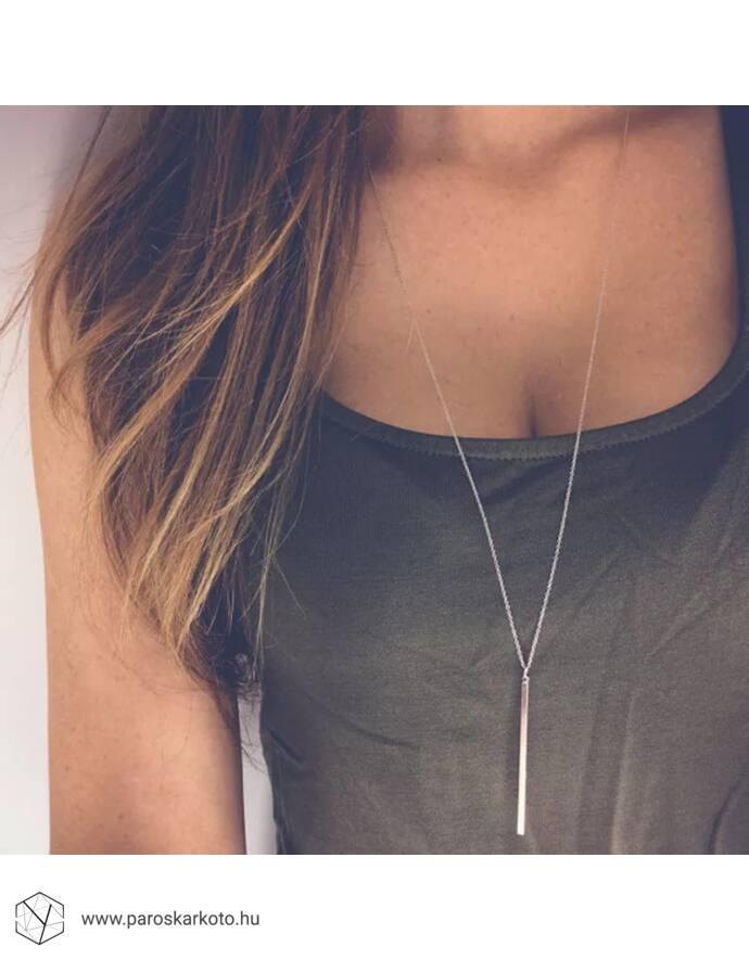 Vékony hosszított nyaklánc