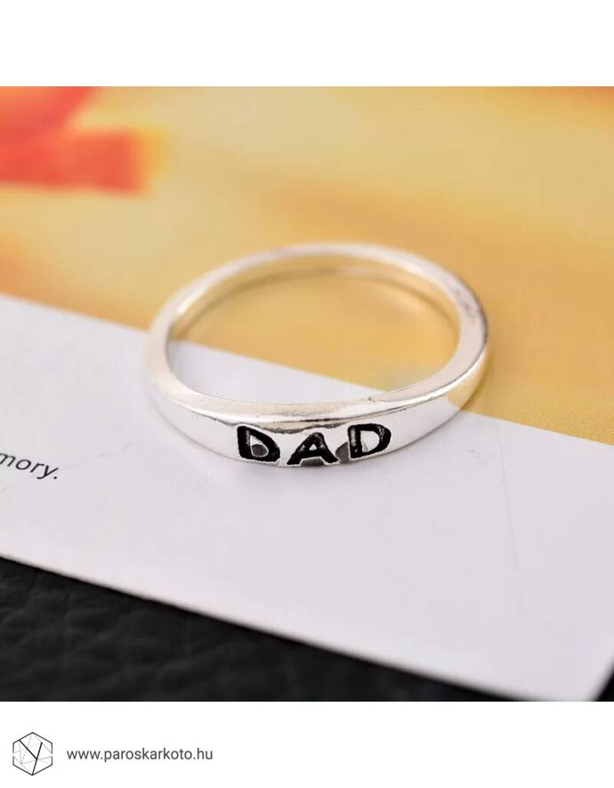 """Dad"" feliratos gyűrű"