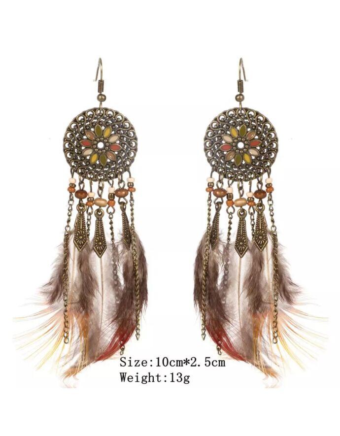 Indián toll fülbevaló _1