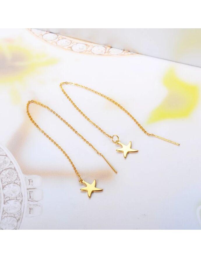 Arany csillag lánc fülbevaló _1