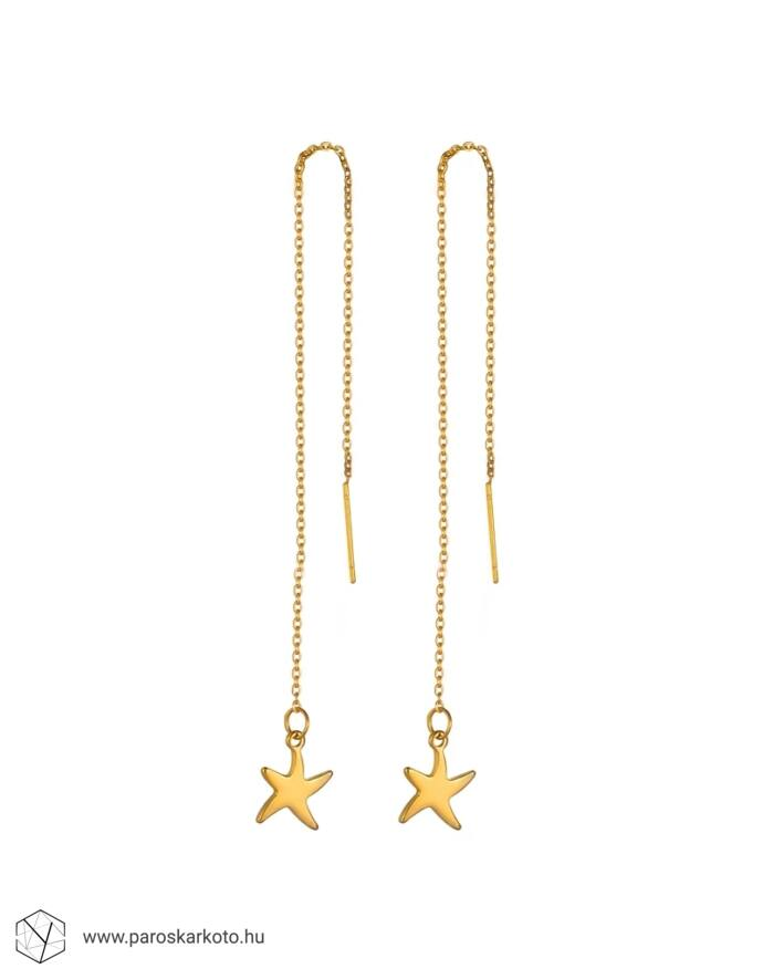 Arany csillag lánc fülbevaló