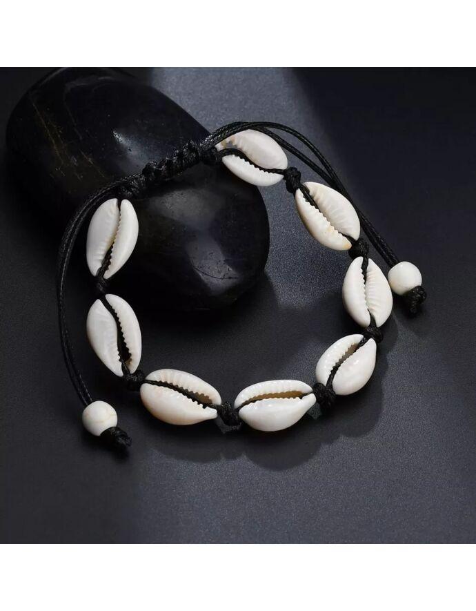 Zsinór Kagylós bokalánc  kagylóval kagylós ékszer tengeres ékszer nyár