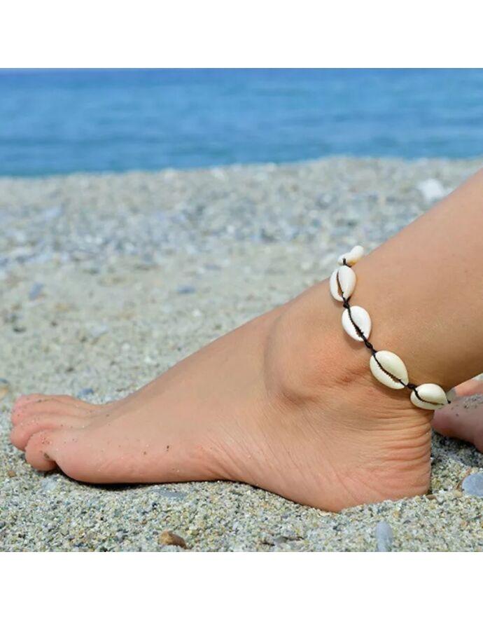 Zsinór Kagylós bokalánc ezüst kagylóval kagylós ékszer kagyló ékszer nyár