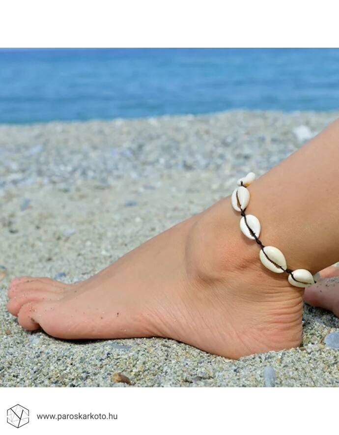 Zsinór Kagylós bokalánc ezüst kagylóval kagylós ékszer tengeres ékszer nyár