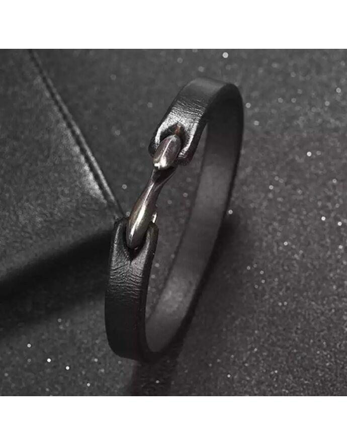 Hasított bőr karkötő kapoccsal