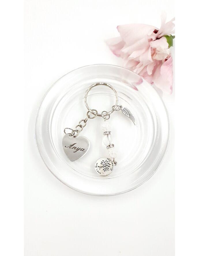 """""""Anya"""" feliratos gravírozott kulcstartó ajándékötlet,  gravírozott kulcstartó, anya, anya-lánya"""