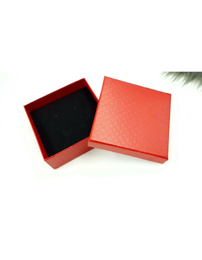 Piros ajándékdoboz plüss párnával ajándék csomagolás plüss párna ajándék ajándék ötlet díszcsomagolás ékszer csomagolás