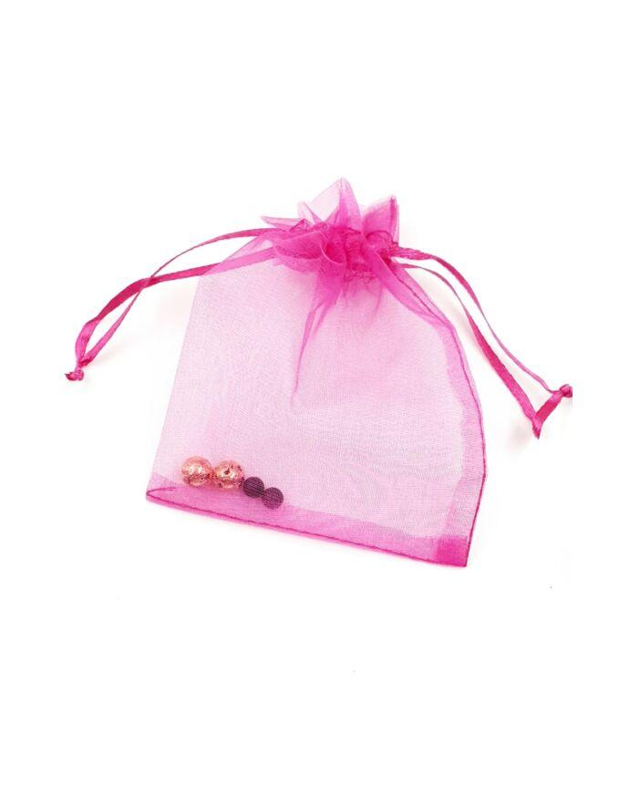 Tüll tasak (több szíben) színes díszcsomagolás ékszer csomagolás ajándék ajándékozás