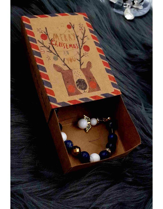 Karácsonyi ékszertartó doboz