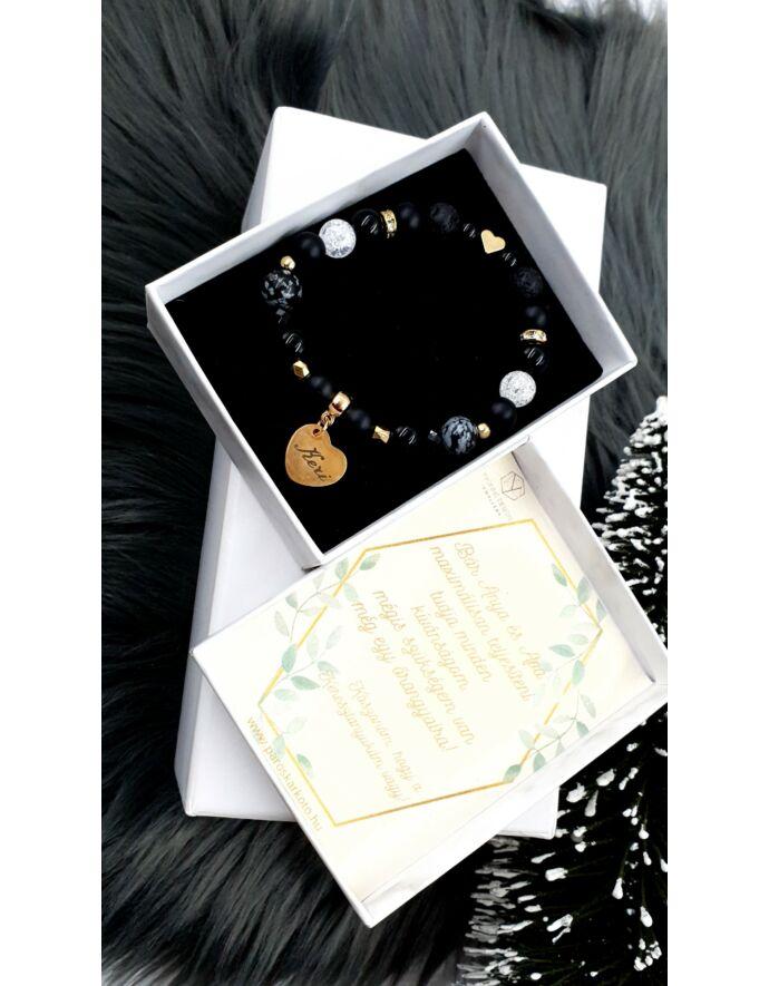 Keresztszülő felkérő díszdobozos angyal angyalka ásványkarkötő kereszt szülő keresztanya ajándék keresztelés felkérő ajándék