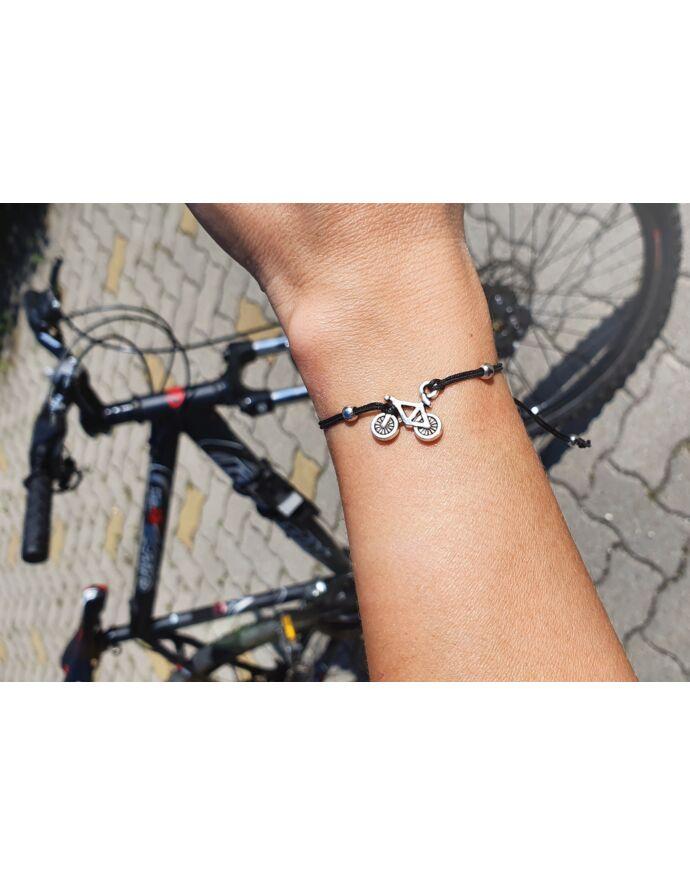 Kerékpár medálos zsinór karkötő_1
