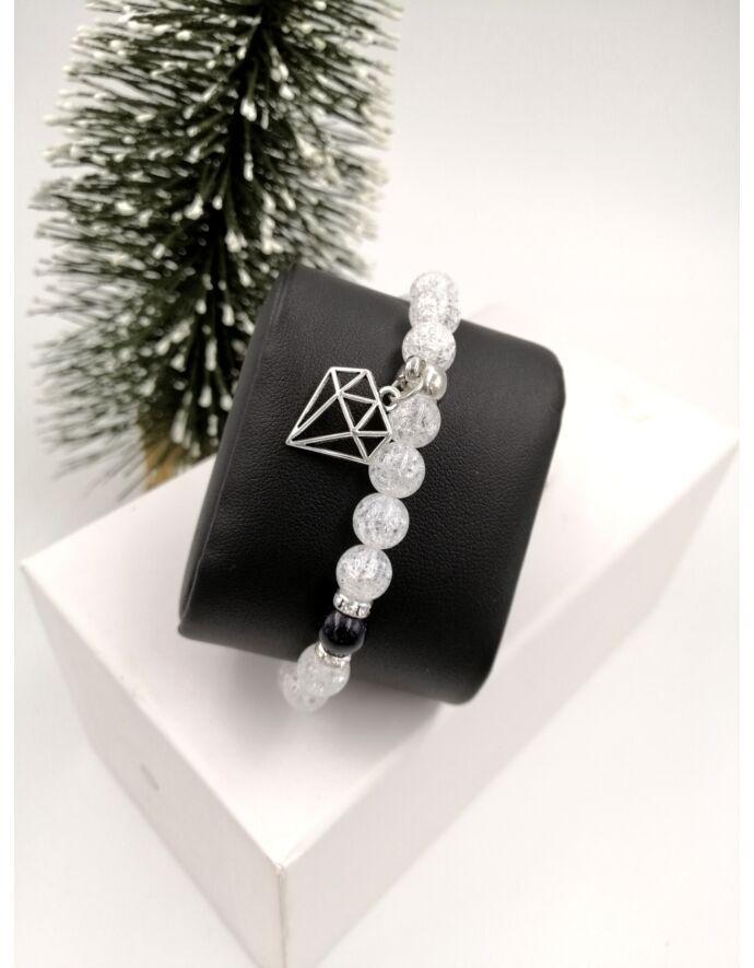 """""""Gyémánt"""" ásványkarkötő"""