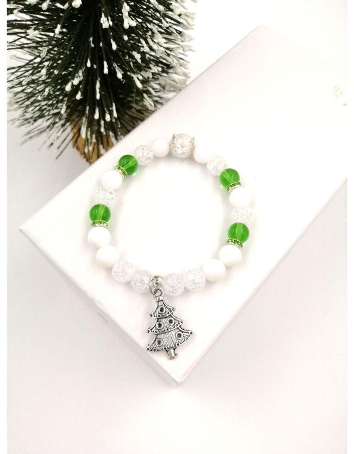 """""""Karácsonyfa"""" ásványkarkötő"""